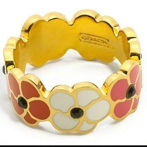 Coach's Poppy Flower Gold Ring